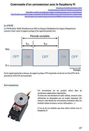 Linu Raspberry Pi PWM commande d'un servomoteur