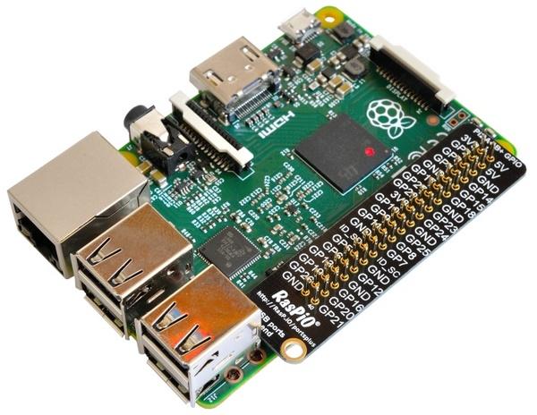 Raspberry Pi avec réglette PortsPlus http://rasp.io/portsplus/