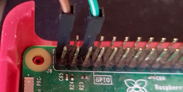 Connexion du module LASER KY-008 sur le GPIO du Raspberry Pi 3 - Photo Francois MOCQ