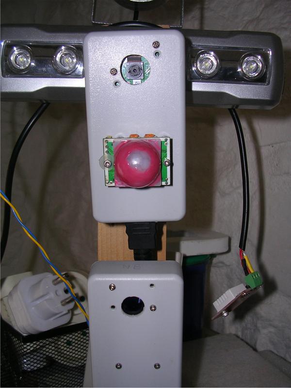 En haut caméra PiCam avec détecteur infrarouge PIR. En bas caméra PiCam NoIR