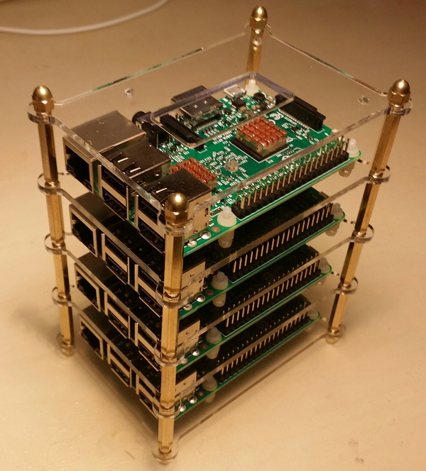 Cluster de 4 raspberry pi