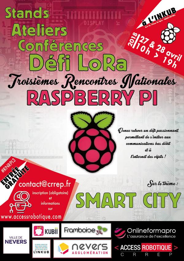 #RNRPI3 Troisièmes rencontres Raspberry Pi de Nevers