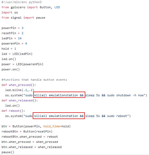 Shutdown automatique pour NesPi Case + - Script en Python