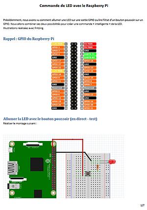 Linux Raspberry Pi Ecriture de shell scripts LED et Bouton Poussoir