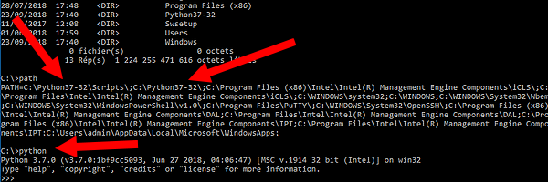 Installation de Python et PySerial sous Windows