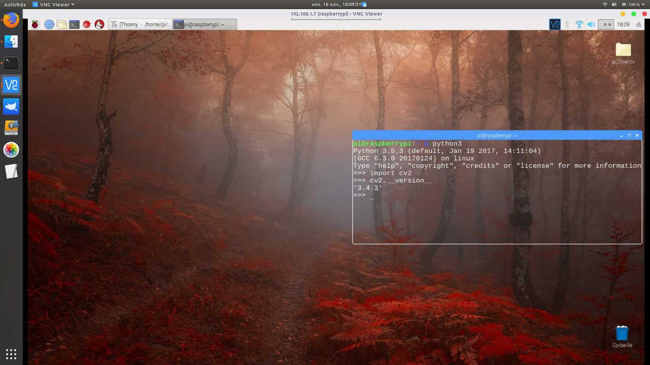 Reconnaissance d'objets avec OpenCV sur Raspberry Pi