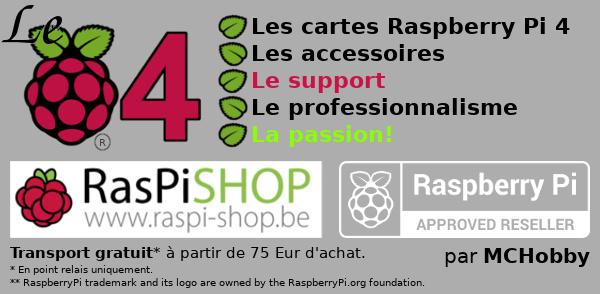 Acheter le Raspberry Pi 4 en Belgique