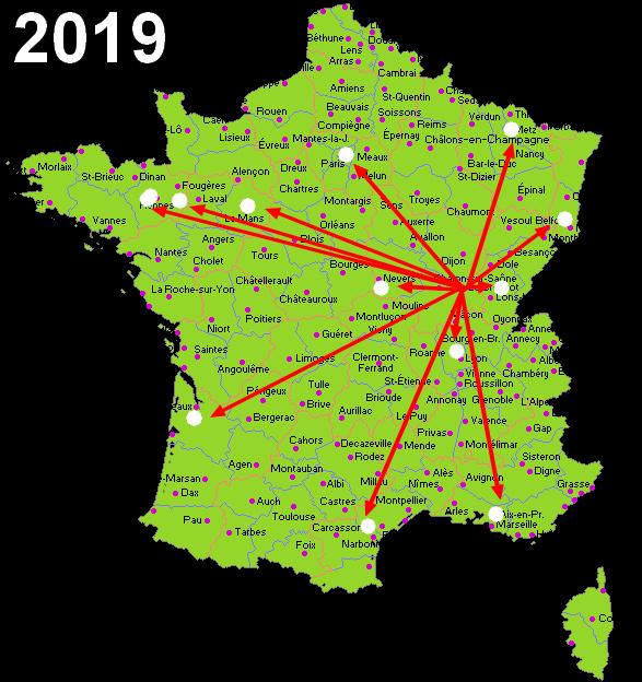 Déplacements framboise314 en 2019
