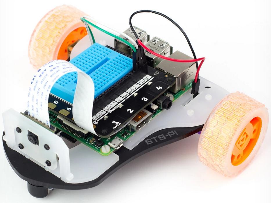 Carte Explorer HAT Pro sur le robot STS-Pi