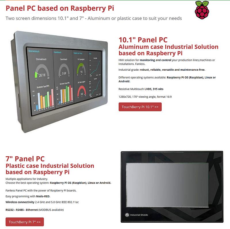 Solution interface IHM à base de Raspberry Pi par Industrial Shields