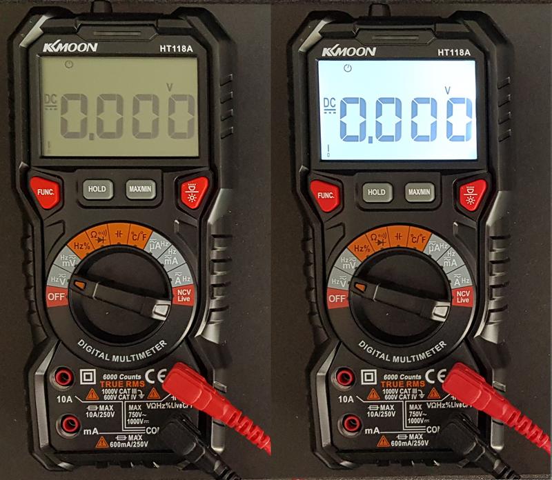 multimètre automatique KKMOON HT118A rétroéclairage