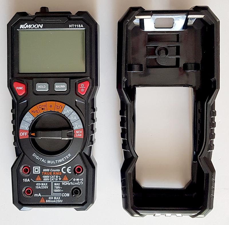 multimètre automatique KKMOON HT118A démontage de la coque silicone protection anti-choc chute