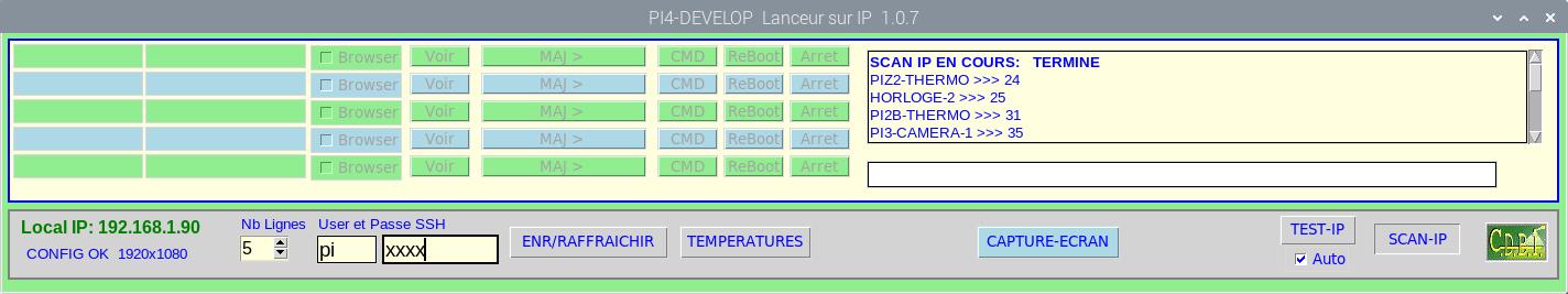 Screenshot du Lanceur_IP - Scan des machines présentes en ligne
