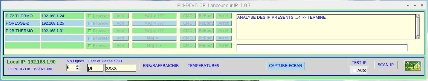 Screenshot du programme Lanceur_IP _ Enregistrement des Raspberry Pi